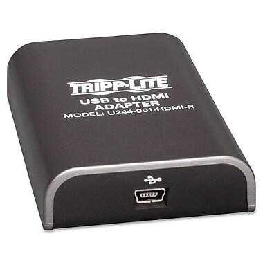 Tripp Lite USB 2.0 to HDMI Video Graphics Card Adapter, Black | Staples®