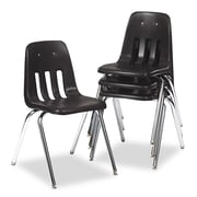 Virco® 9000 Series Classroom Stack Chair, Black/Chrome