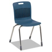 Virco® Analogy Ergonomic Polypropylene Stack Chair, Navy/Chrome