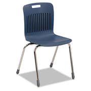 Virco® Analogy Extra Large Ergonomic Polypropylene Stack Chair, Navy/Chrome
