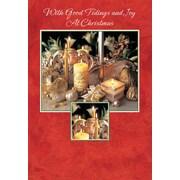 Cartes de Noël, With Good Tidings and Joy at Christmas (anglais), paq./18