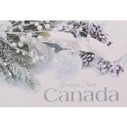 Cartes de Noël, Greetings from Canada (anglais), paq./12