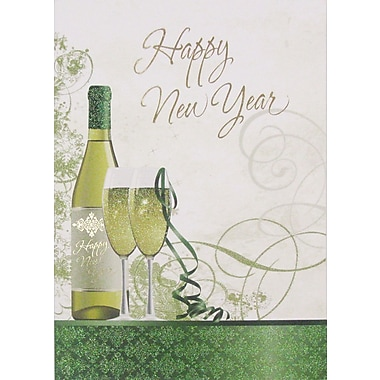Cartes de voeux, Happy New Year (anglais), paq./12