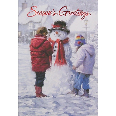 Christmas Cards, Season's Greetings and Snowman, 12/Pack