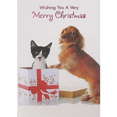 Christmas Cards, Dog & Cat, 12/Pack