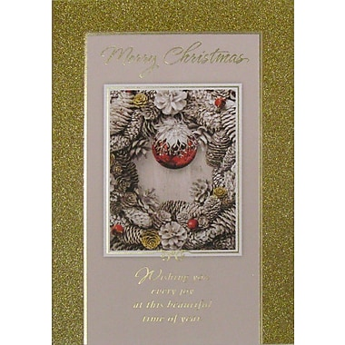 Christmas Cards, Best Wishes for Christmas, 12/Pack