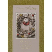Cartes de Noël, Best Wishes for Christmas (anglais), paq./12