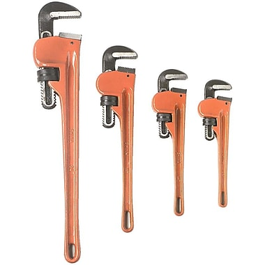 ATD® Heavy-Duty Pipe Wrench Set, 4-Piece