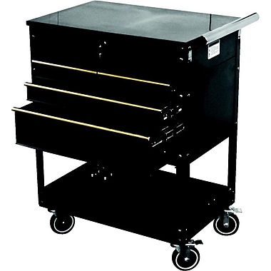 ATD® Professional 4-Drawer Service Cart, Black