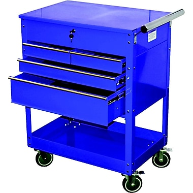 ATD® Professional 4-Drawer Service Cart, Blue