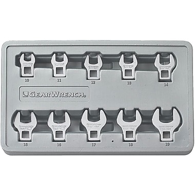 GearWrench® Metric Crowfoot Drive Non-Ratcheting Wrench Set, 10-Piece