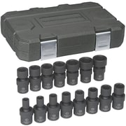 "GearWrench® 3/8"" Drive 6-Point Metric Impact Universal Socket Set, 15-Piece"