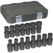 "GearWrench® 1/2"" Drive 6-Point Metric Impact Universal Socket Set, 15-Piece"