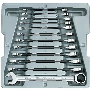 GearWrench® Metric Combination Ratcheting Wrench Set, 12-Piece