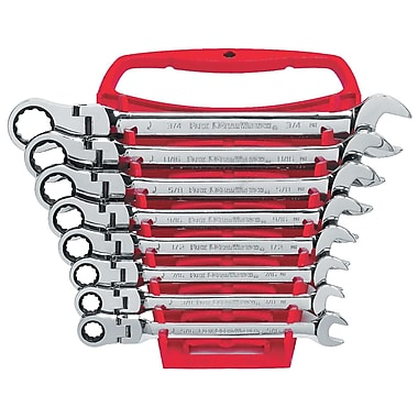 GearWrench® SAE Flex Combination Ratcheting Wrench Set, 8-Piece