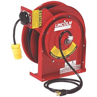 Lincoln® 50' Heavy-Duty Power Cord Reel with Single Tap