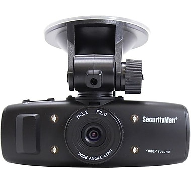 SecurityMan HD Car Camera with Impact Sensing Recording