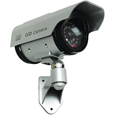 SecurityMan – Caméra factice d'extérieur/intérieur à énergie solaire avec voyant à DEL