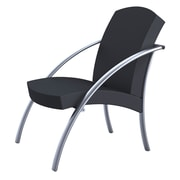 Alba NOVA Reception Chair for 1-Person, Silver Grey and Black