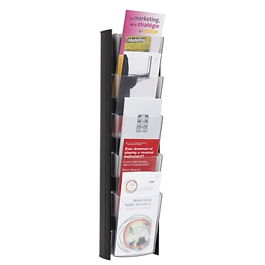 Alba 5-Pocket Wall Document, 1/3 Letter size Display, Black