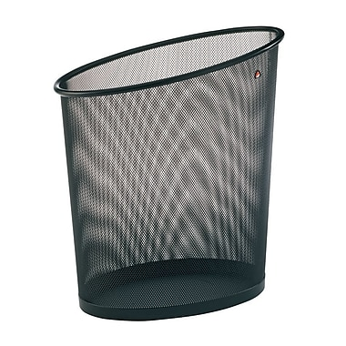 Alba Oval Mesh Waste Basket,18L Capacity, Black, 6/Pack