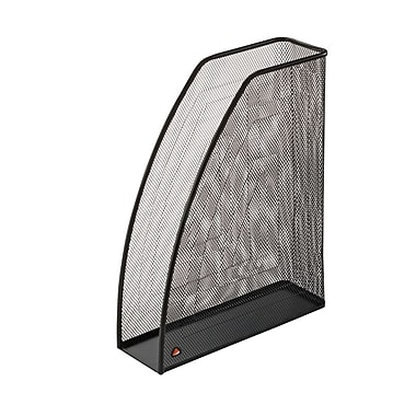 Alba Mesh Magazine Holder, Black, 6/Pack