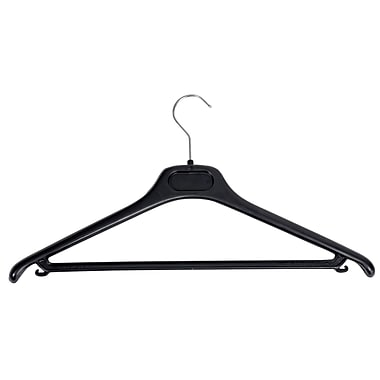 Alba Plastic Coat Hangers, Black and Chrome, 20/Pack