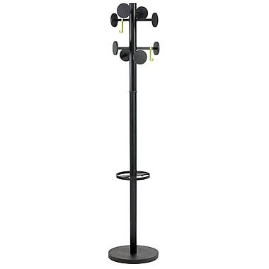 Alba Stan3 Floor Coat Stand, 8 Rounded Pegs, Black