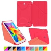 "rOOCASE Origami Polyurethane Folio Smart Case Cover for 8"" Samsung Galaxy Tab 4, Persian Rose/Ruddy Pink"