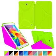 "rOOCASE Origami Polyurethane Folio Smart Case Cover for 8"" Samsung Galaxy Tab 4, Electric Green/Peach Pink"