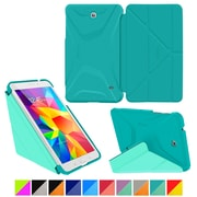 "rOOCASE Origami Polyurethane Folio Smart Case Cover for 7"" Samsung Galaxy Tab 4, Turquoise Blue/Mint Candy"