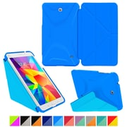 "rOOCASE Origami Polyurethane Folio Smart Case Cover for 7"" Samsung Galaxy Tab 4, Pacific Blue/Barbados Blue"