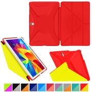 "rOOCASE Origami Polyurethane Folio Smart Case Cover for 10.5"" Samsung Galaxy Tab S, Testarossa Red/Tangerine Yellow"
