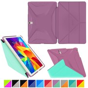 "rOOCASE Origami Polyurethane Folio Smart Case Cover for 10.5"" Samsung Galaxy Tab S, Radiant Orchid/Mint Candy"
