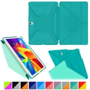 "rOOCASE Origami Polyurethane Folio Smart Case Cover for 10.5"" Samsung Galaxy Tab S, Turquoise Blue/Mint Candy"