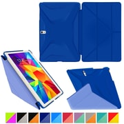 "rOOCASE Origami Polyurethane Folio Smart Case Cover for 10.5"" Samsung Galaxy Tab S, Palatinate Blue/Aruba Blue"