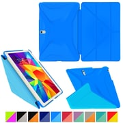"rOOCASE Origami Polyurethane Folio Smart Case Cover for 10.5"" Samsung Galaxy Tab S, Pacific Blue/Barbados Blue"