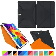 roocase Galaxy Tab S 10.5 Origami 3D Slim Shell Case, Granite Black & Roocase Orange