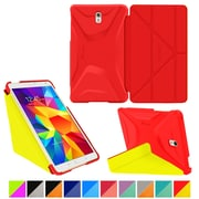 "rOOCASE Origami Polyurethane Folio Smart Case Cover for 8.4"" Samsung Galaxy Tab S, Testarossa Red/Tangerine Yellow"
