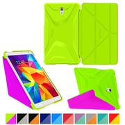 "rOOCASE Origami Polyurethane Folio Smart Case Cover for 8.4"" Samsung Galaxy Tab S, Electric Green/Peach Pink"