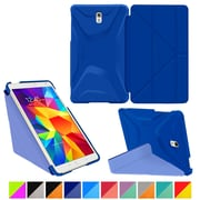 "rOOCASE Origami Polyurethane Folio Smart Case Cover for 8.4"" Samsung Galaxy Tab S, Palatinate Blue/Aruba Blue"