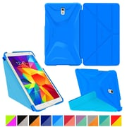 "rOOCASE Origami Polyurethane Folio Smart Case Cover for 8.4"" Samsung Galaxy Tab S, Pacific Blue/Barbados Blue"