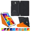 roocase Galaxy Tab S 8.4 Origami 3D Slim Shell Case, Granite Black & roocase Orange