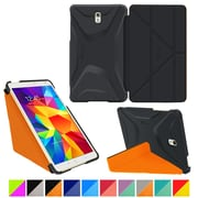 "rOOCASE Origami Polyurethane Folio Smart Case Cover for 8.4"" Samsung Galaxy Tab S, Granite Black/Orange"