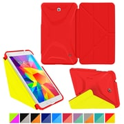 roocase Galaxy Tab 4 7.0 Origami 3D Slim Shell Case Testarossa Red & Tangerine Yellow