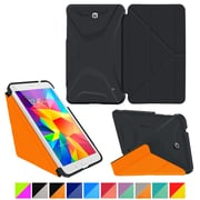 "roocase Galaxy Tab 4 8.0"" 3D Slim Shell Case, Granite Black & Roocase Orange"