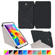 "rOOCASE Origami Polyurethane Folio Smart Case Cover for 8"" Samsung Galaxy Tab 4, Granite Black/Cool Gray"