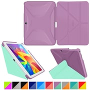 """rOOCASE Origami Polyurethane Folio Smart Case Cover for 10.1"""" Samsung Galaxy Tab 4, Radiant Orchid/Mint Candy"""