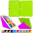 roocase Origami 3D Slim Shell Case for Galaxy Tab 4 10.1 Electric Green & Peach Pink