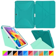 roocase Origami 3D Slim Shell Case for Galaxy Tab 4 10.1 Turquoise Blue & Mint Candy